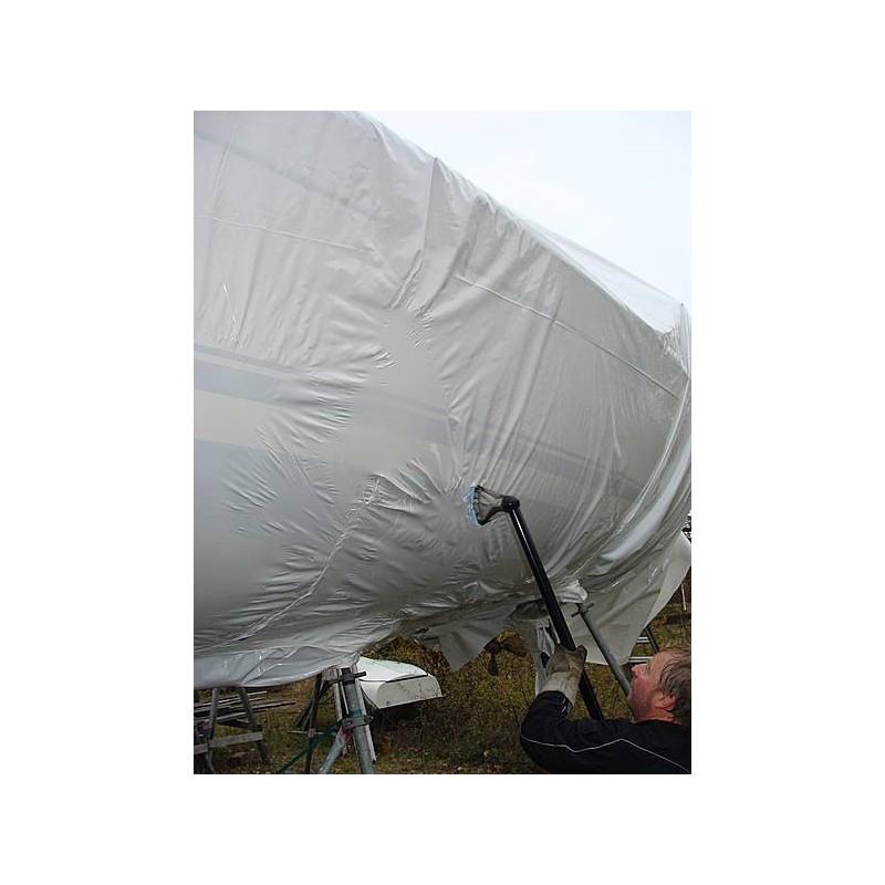 Film rétractable, protection bateau