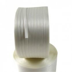 """Feuillard textile """"fil à fil"""" polyester colle"""