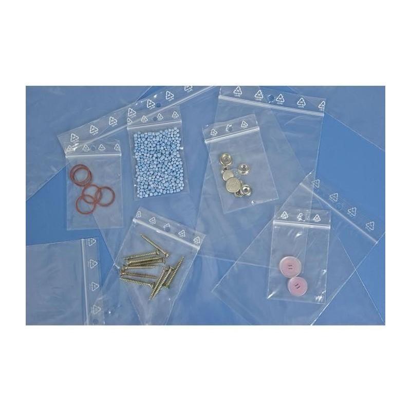 Sachet plastique zip, sachet à fermeture pression